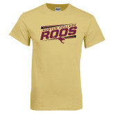 Champion Vegas Gold T Shirt-Austin college Roos Fancy Lines