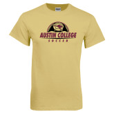 Champion Vegas Gold T Shirt-Soccer Half Ball Design