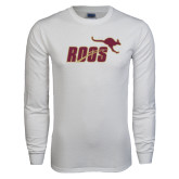White Long Sleeve T Shirt-Primary Mark 2 Color