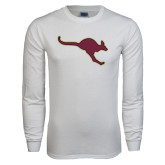 White Long Sleeve T Shirt-Roo Icon