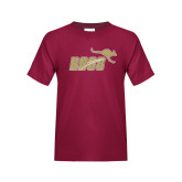 Youth Maroon T Shirt-Primary Mark Full Color