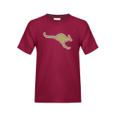 Youth Maroon T Shirt-Roo Icon