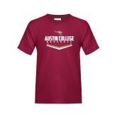 Youth Maroon T Shirt-Baseball Plate Design