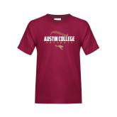 Youth Maroon T Shirt-Softball Seams Design
