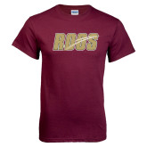 Maroon T Shirt-Roos Full Color