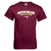 Maroon T Shirt-Austin College Roos Arched