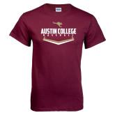 Maroon T Shirt-Baseball Plate Design