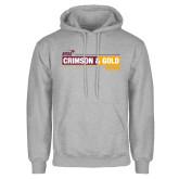 Grey Fleece Hoodie-Crimson and Gold Fund