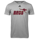 Adidas Climalite Sport Grey Ultimate Performance Tee-Primary Mark Full Color