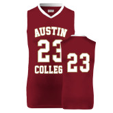 Replica Maroon Adult Basketball Jersey-#23