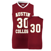 Replica Maroon Adult Basketball Jersey-#30