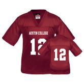 Youth Replica Maroon Football Jersey-#12