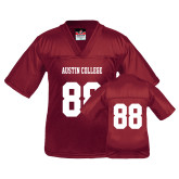 Youth Replica Maroon Football Jersey-#88