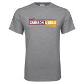 Grey T Shirt-Crimson and Gold Fund