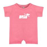 Bubble Gum Pink Infant Romper-Primary Mark 1 Color