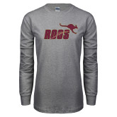 Grey Long Sleeve T Shirt-Primary Mark Full Color