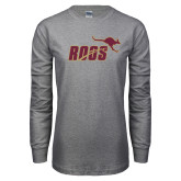 Grey Long Sleeve T Shirt-Primary Mark 2 Color