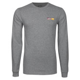 Grey Long Sleeve T Shirt-Crimson and Gold Fund
