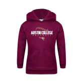 Youth Maroon Fleece Hoodie-Softball Seams Design