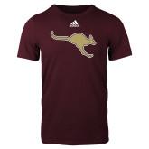Adidas Maroon Logo T Shirt-Roo Icon