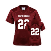 Ladies Maroon Replica Football Jersey-#22