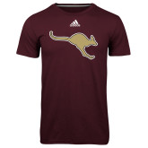 Adidas Climalite Maroon Ultimate Performance Tee-Roo Icon