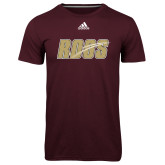 Adidas Climalite Maroon Ultimate Performance Tee-Roos Full Color