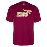 Performance Maroon Tee-Primary Mark 2 Color