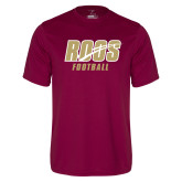 Performance Maroon Tee-Football