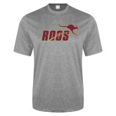 Performance Grey Heather Contender Tee-Primary Mark 2 Color