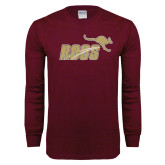 Maroon Long Sleeve T Shirt-Primary Mark Full Color