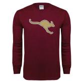 Maroon Long Sleeve T Shirt-Roo Icon
