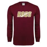 Maroon Long Sleeve T Shirt-Roos