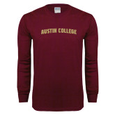 Maroon Long Sleeve T Shirt-Arched Austin College