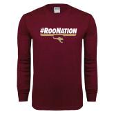 Maroon Long Sleeve T Shirt-RooNation