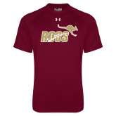 Under Armour Maroon Tech Tee-Primary Mark 2 Color