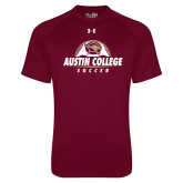 Under Armour Maroon Tech Tee-Soccer Half Ball Design