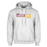 White Fleece Hoodie-Crimson and Gold Fund