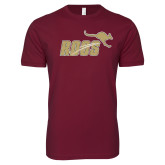Next Level SoftStyle Maroon T Shirt-Primary Mark Full Color