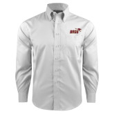 Red House White Long Sleeve Shirt-Primary Mark 2 Color