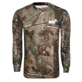 Realtree Camo Long Sleeve T Shirt w/Pocket-Primary Mark 1 Color