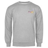 Grey Fleece Crew-Crimson and Gold Fund