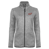 Grey Heather Ladies Fleece Jacket-Primary Mark 2 Color