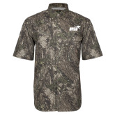 Camo Short Sleeve Performance Fishing Shirt-Primary Mark 1 Color