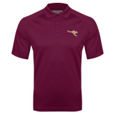 Maroon Textured Saddle Shoulder Polo-Roo Icon