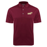 Maroon Dry Mesh Polo-Primary Mark 2 Color