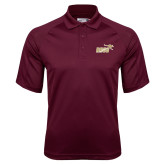 Maroon Dri Mesh Pro Polo-Primary Mark 2 Color