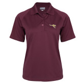Ladies Maroon Textured Saddle Shoulder Polo-Roo Icon