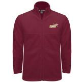Fleece Full Zip Maroon Jacket-Primary Mark 2 Color