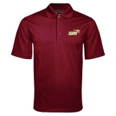 Maroon Mini Stripe Polo-Primary Mark 2 Color